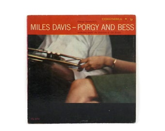 1958 Miles Davis LP  Porgy and Bess Columbia CL 1274 6 Eye Label Vinyl Record