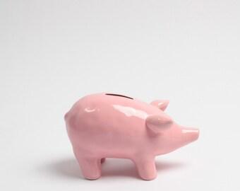 The Piggy Bank - Pink Money Bank - Table Top Pig Decoration - Kids Room Decor Animal Statue, Piggy Bank, Swear Jar