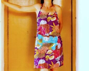 Pinafore Apron / Kitchen Pinafore / Womens' Pinafore / Kantha Quilt / Unique Apron / Pinafore / Apron Dress / Boho Pinafore / Ralli Gudari