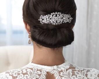 Vintage Bridal Comb, Rhinestone Wedding Hair Comb, Bridal Hair Accessory, Antique Bridal Comb, Hair Comb for Bride, Bride Headpiece ~TC-2243