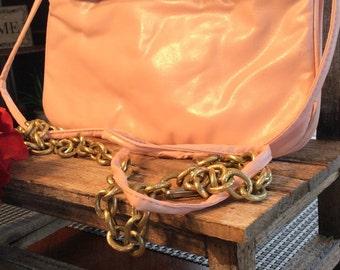 Pretty in Pink Vintage 1980 Handbag with detachable strap