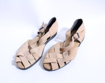 Woven Soft Leather 90s Sandal