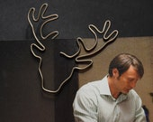 Hannibal paperclip / metal bookmark / page marker – Will Graham's raven stag / Supernatural Jared moose