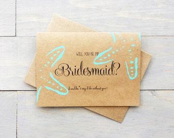 Will You Be My Bridesmaid? Bridesmaid Gift, Beach Wedding