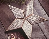 White Wooden Christmas Star Tree Topper Decoration- 12 inch star tree topper made from Reclaimed Wood