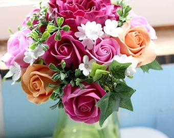 Wedding bouquet, Alternative bridal bouquet, Deco clay bouquet, Bridesmaid bouquet, Flower girl, Alternative bouquet, RusticW