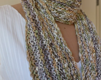 Hand knitted Spring / Summer scarf Posy 1
