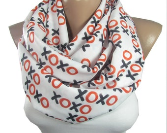 xoxo Scarf Infinity Scarf Valentines Gift for Her Mothers Day Gift For Mom Christmas Gift for Her Gift for Wife For Teen Winter Accessories