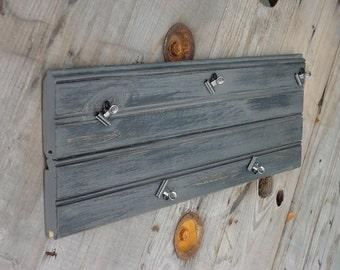 Gray Bead Board Clip Board Photo Clip Board Rustic Picture Frame Message Clip