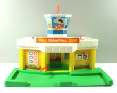 Vintage Fisher Price aiport  #2502 - Fisher Price airport - Fisher Price Vintage Jet Port - Vintage toy - Retro Fisher Price