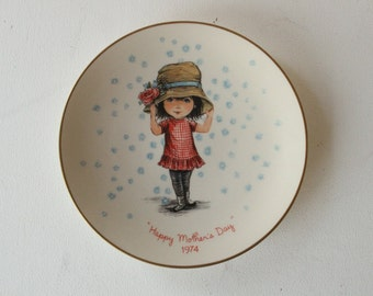 Moppets Mother's Day 1974 Plate, Gorham Fine China, Fran Mar Greeting Cards Ltd., Second of a Limited Annual Edition