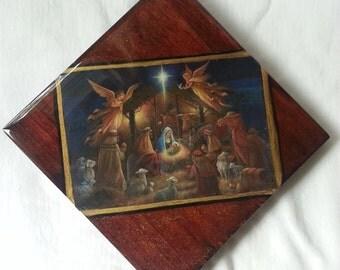 Nativity Scene in Block Art