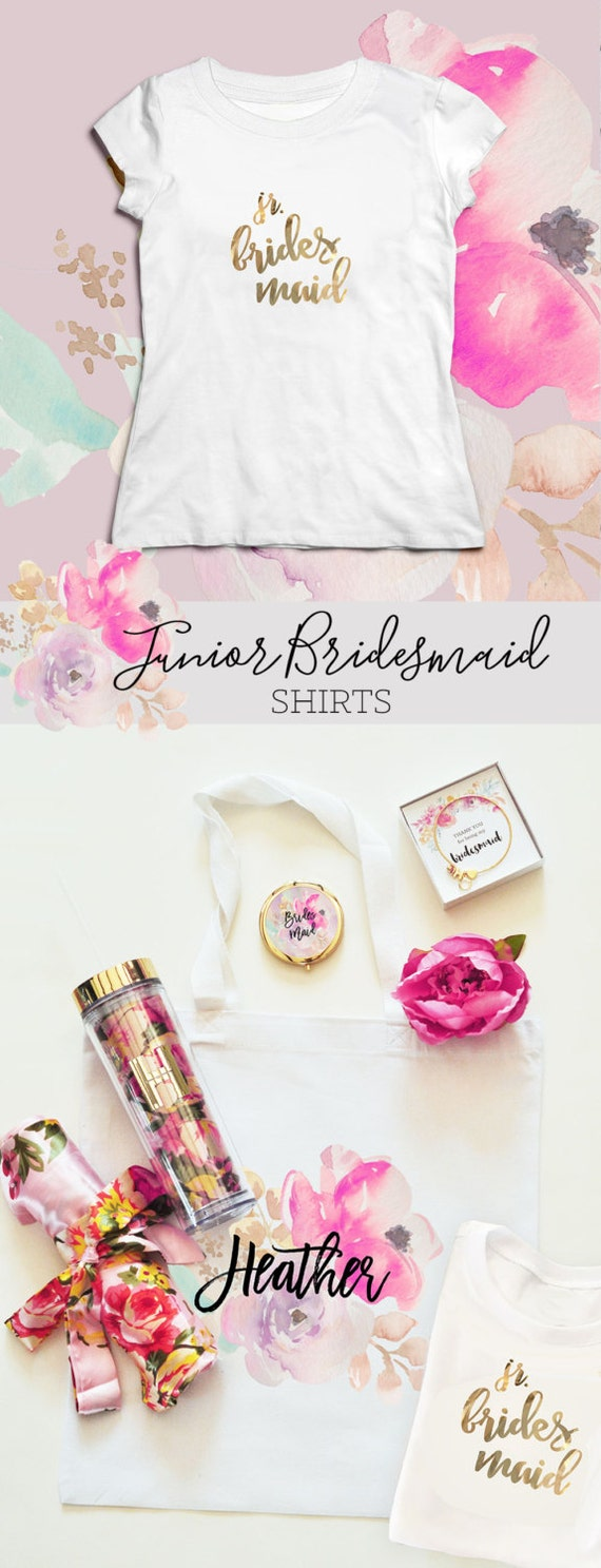 Junior Bridesmaid Shirt Junior Bridesmaid Gift Ideas - (EB3161GRLW) Jr ...