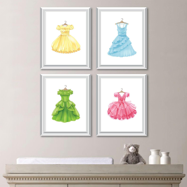 Fashion Wall Art Unique Girl Nursery Art Printsfashion Artfashion Decorprincess Decorating Inspiration