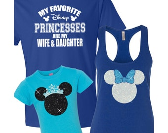 Disney Family Shirts 2T - 3XL / Disney Family Vacation / My Favorite Disney Princess / Minnie Princess / Minnie with Bow