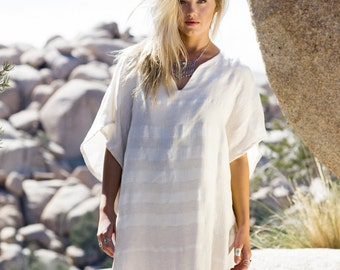 Hava Tunic | Boho Kimono Bohemian Dress Boho Dress Free Shipping Cotton Beach Cover Up Light Jacket Gym Pool Wear Festival Dress