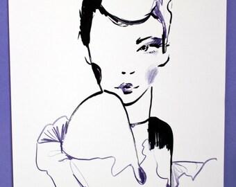 Fashion illustration giclee print