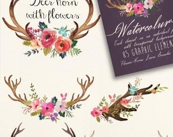 Watercolor flowers DIY pack Vol.3