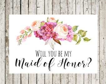 Breathtaking image intended for will you be my maid of honor printable