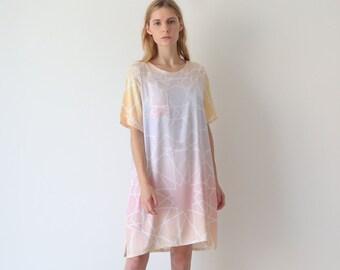 Tunic dress, satin dress,  tshirt dress. loose fit dress, shift dress