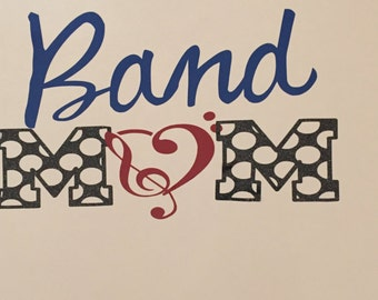 Band/Band mom/Marching Band/ car Decal/ Laptop decal/ Yeti decal