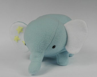 Blue Elephant, Stuffed Animal Elephant, Elephant Plushie, Plush Elephant, Elephant Stuffed Toy, Elephant Plush Toy