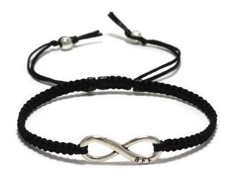 Best Friend Bracelet, Best Friend Gift, Friendship Bracelet, Infinity BFF Bracelet, BFF Bracelet, Macrame Bracelet, Infinity, BFF Gift