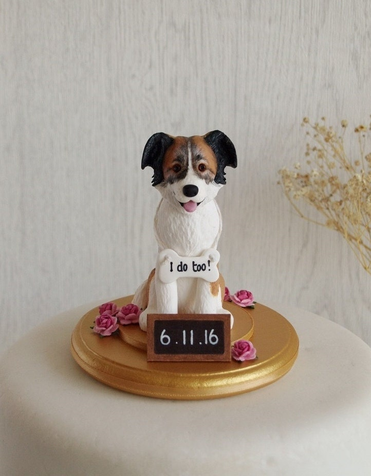 wedding cake toppers with dog uk border collie cake topper collie cake topper custom 26632