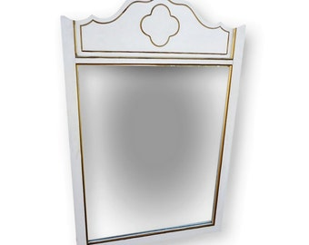 Vintage Dixie French Provincial Mirror Dixie Mirror French Country Mirror Cottage Chic Mirror Vintage Quatrefoil Mirror Dixie Dresser Mirror