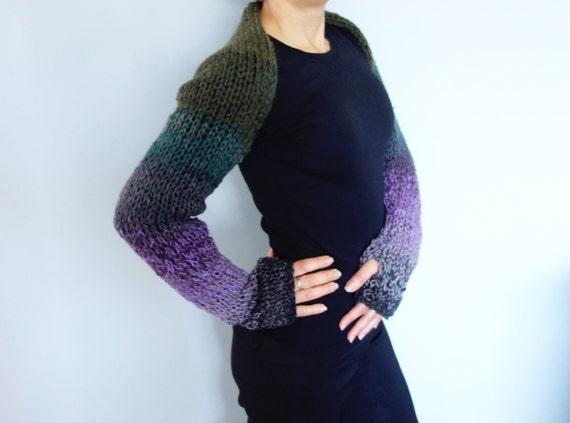 Shrug Knitting PATTERN Hortensia Multicoloured Fit Shrug/