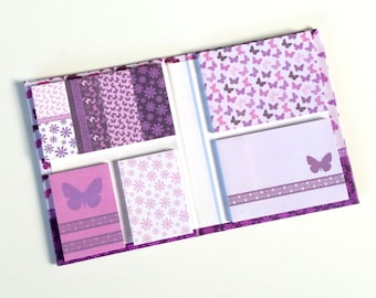 Purple butterfly Sticky Notes booklet / book / set
