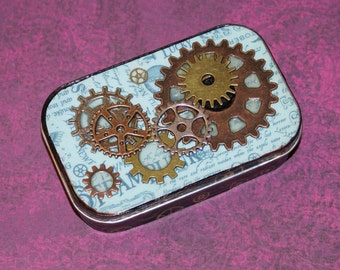 Altered Altoid Tin Steampunk Trinket Box