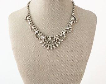 Bridal Choker, Wedding Choker, Art Deco Necklace, Bridal Necklace, Vintage Necklace, Rhinestone Necklace, Crystal Necklace, Wedding Necklace