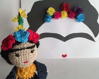 Frida Doll, Frida Kahlo, Amigurumi Doll, handmade doll, Frida crochet