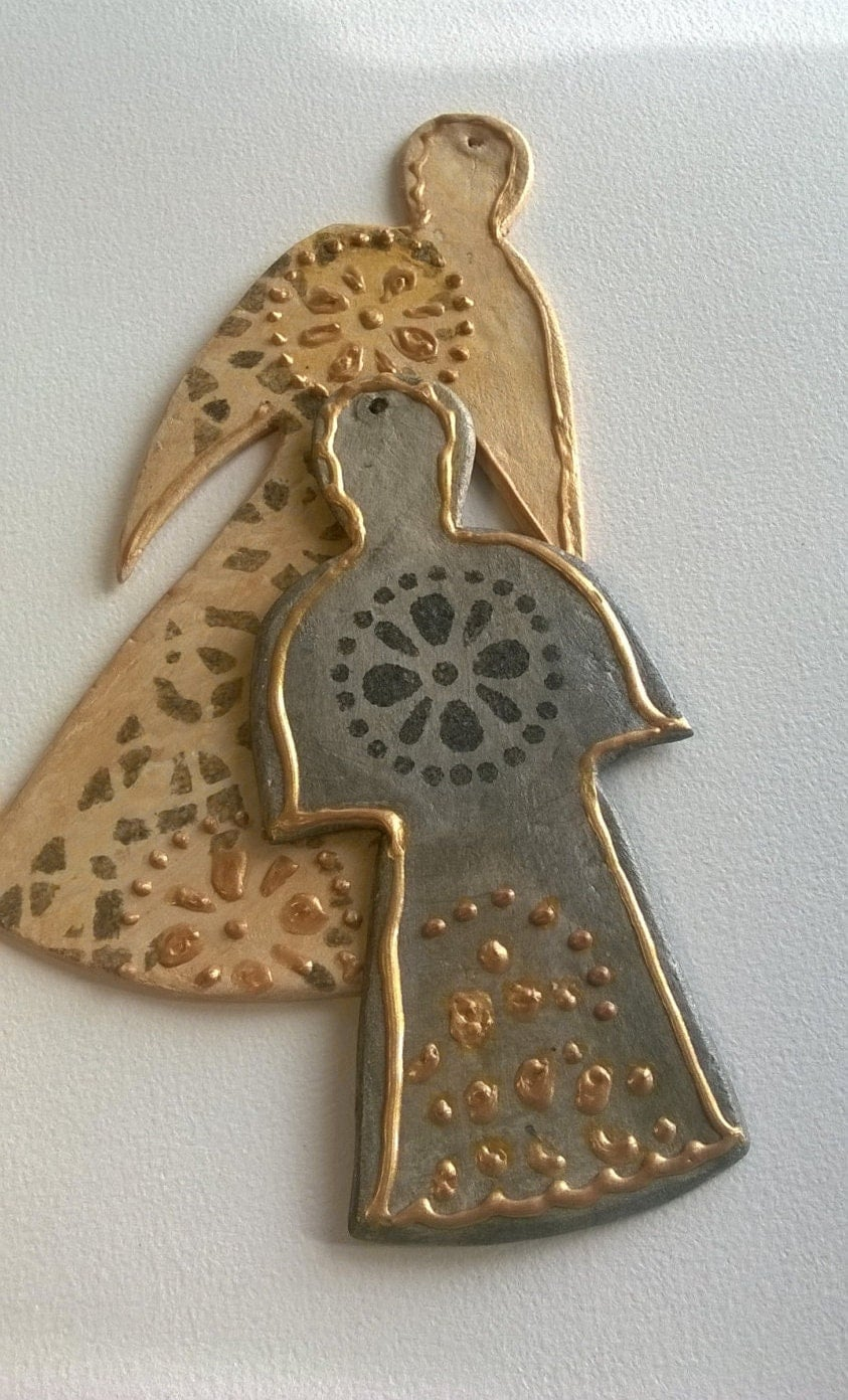 Modern Angel Ornaments Christmas ornament angels Handmade