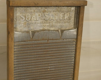Soap Saver Washboard, Vintage Washboard, National Washboard Co, No 194, Antique