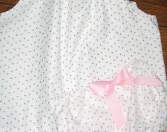 Handmade flutter sleeve dress and diaper cover.