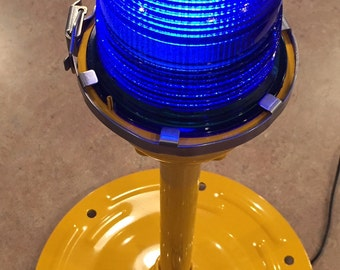 """Airport Taxiway Light Lamp -""""Blue""""- Genuine Authentically Restored"""