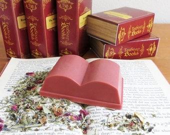 Secret Garden Book Soap - Book Club, Book Lovers Gift for Readers, Book Theme - Rose Tea Soap 4 oz