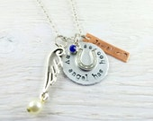 Horse Necklace personalized~ Horse Memorial Jewelry~  Equestrian Jewelry~  Horseshoe Necklace~ Pet Memorial Jewelry~ Pet Loss