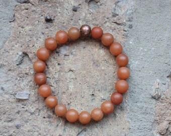 Carnelian + Copper Bracelet