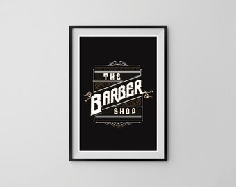 The Barber Shop - A3 Wall Art Print Poster