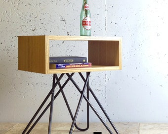 The Crossleg End table, mid century end table, contemporary end table, midcentury end table, industrial end table, unique