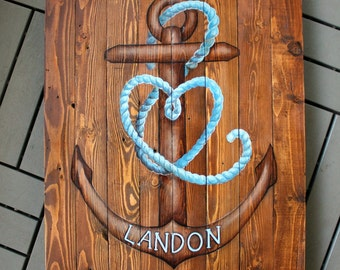 Nautical Reclaimed Wood Wall Hanging