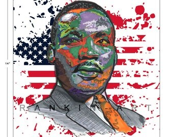 Dr. Martin Luther King, MLK, Selma, 11x14 in, 29x36 cm, Signed Art Print w/ COA
