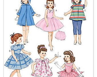 AMERICAN DOLL Sewing Pattern - Dolls Clothes Vintage Retro Style Wardrobe Anniversary