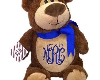 Personalized Cubbie Bear Brown Bear Stuffed Animal Baby Gift Heirloom Keepsake Monogrammed