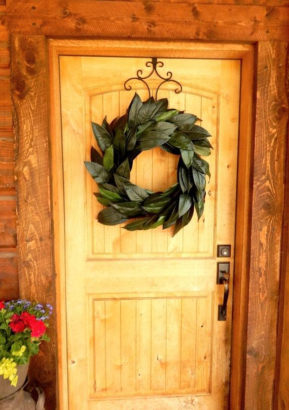 Magnolia Leaf Wreath: Large Magnolia Wreath-Summer Door Wreath-Fall Wreath-Outdoor