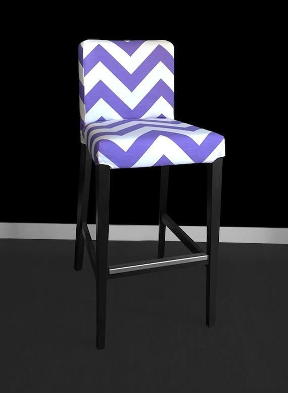 Purple chevron ikea henriksdal bar stool cover zig zag for Miroir zig zag ikea