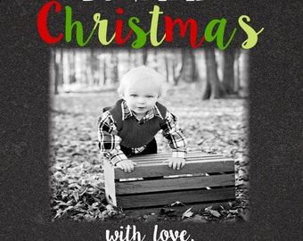 Christmas  Cards- chalkboard-confetti dots